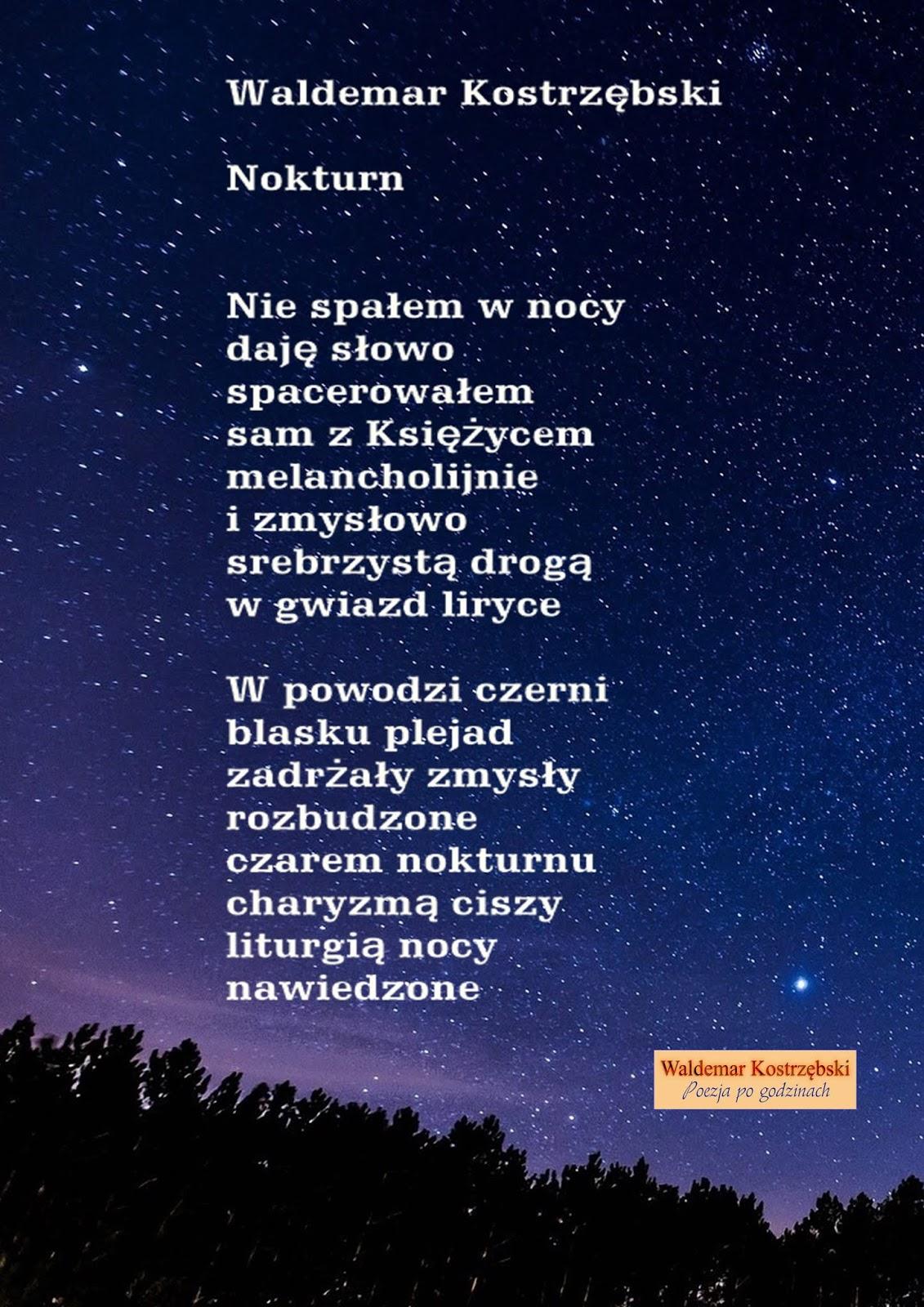 Poezja Po Godzinach Waldemar Kostrzębski Marca 2019