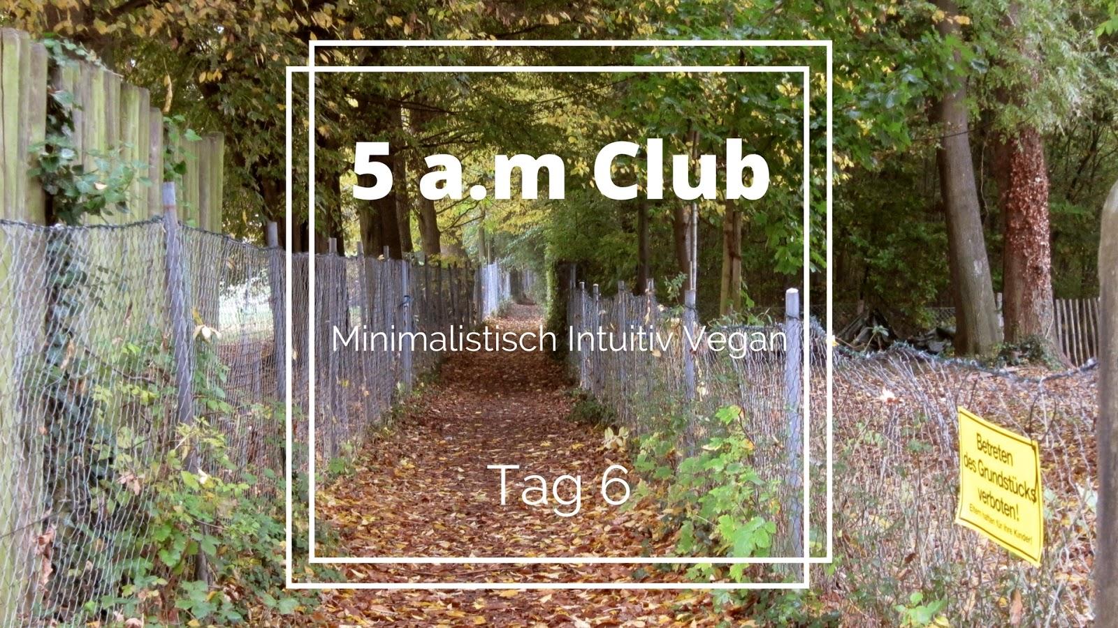5 a m club tag 6 minimalistisch intuitiv vegan. Black Bedroom Furniture Sets. Home Design Ideas