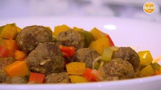 طريقة عمل شوربة خضار بكرات اللحم مع سالي فؤاد في حلو وحادق