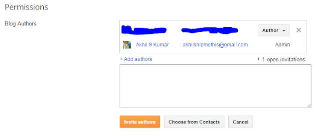 How to Invite - Add Multiple New Others As Authors in Blogger
