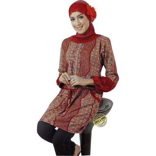 21 Model Baju Batik Muslimah Modern Terbaru 2019 Atasan b81db2ac7e