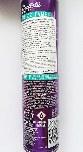 Batiste, Stylist, wygładzający spray przeciw puszeniu się włosów, Smooth It Frizz Tamer