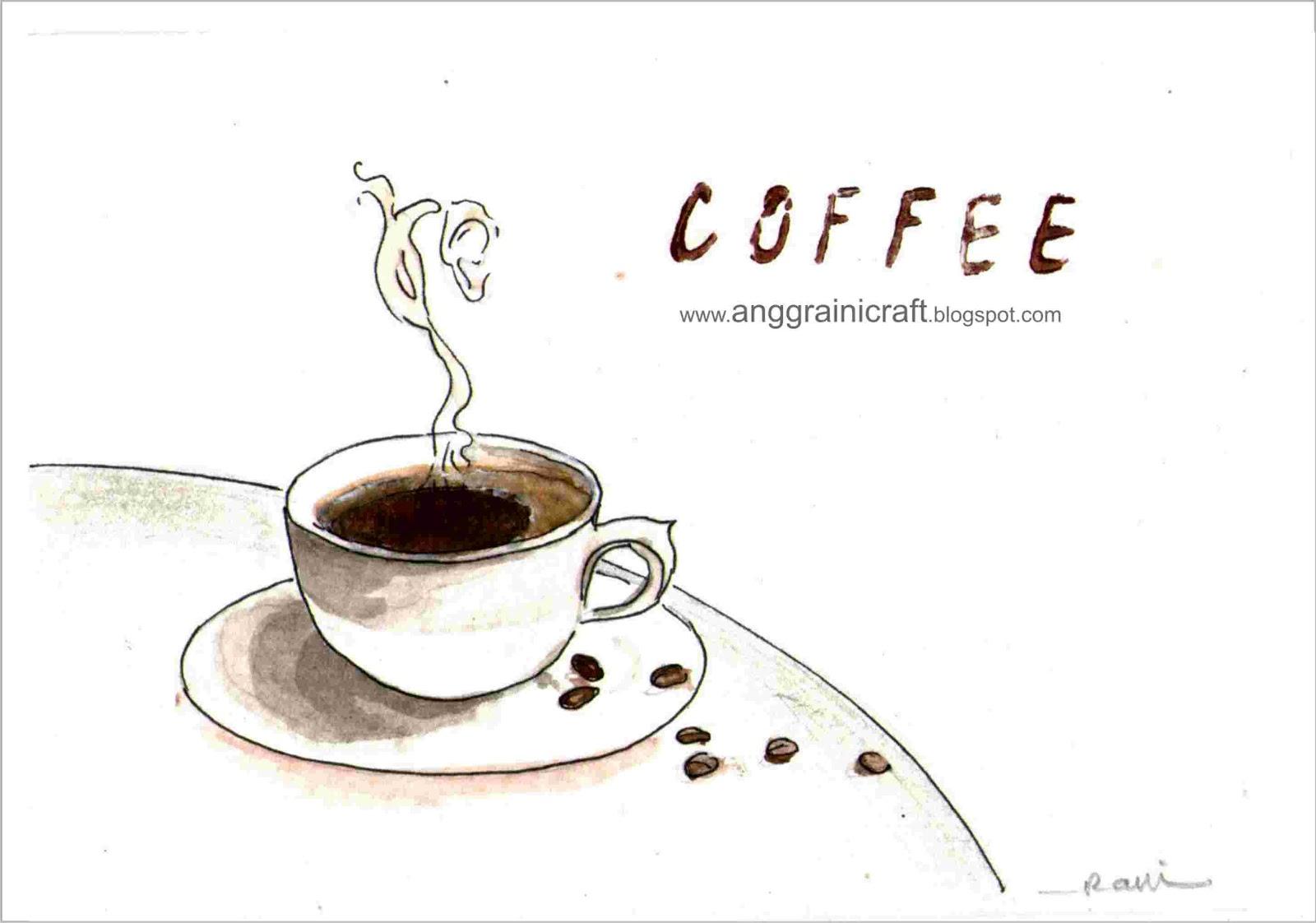 174 Gambar Sketsa Coffee