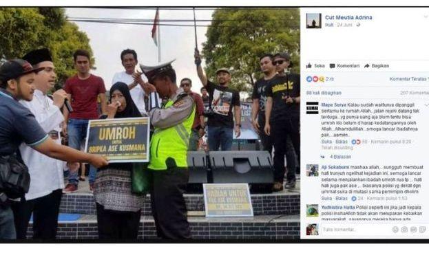 """Umrah dan Uang, Hadiah untuk Bripka Ase, Polisi """"Legendaris"""" di Cipanas"""
