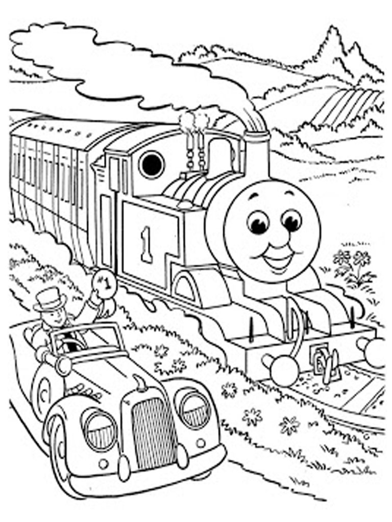 Thomas and friends coloring pages realistic coloring pages for Printable thomas the train coloring pages
