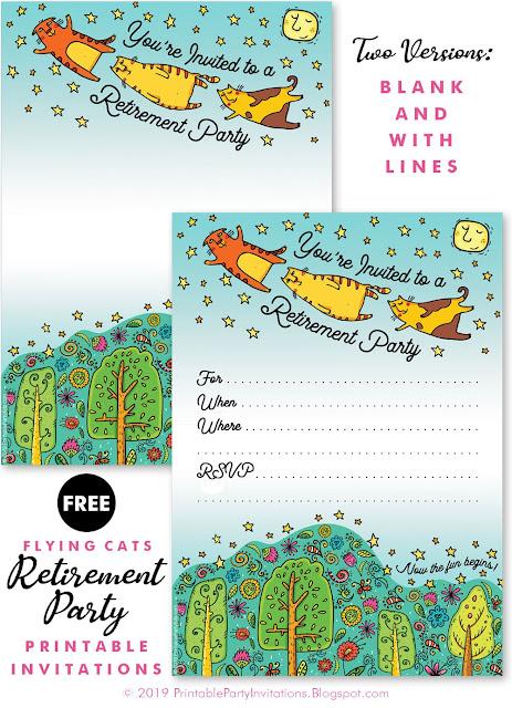 free retirement invitations