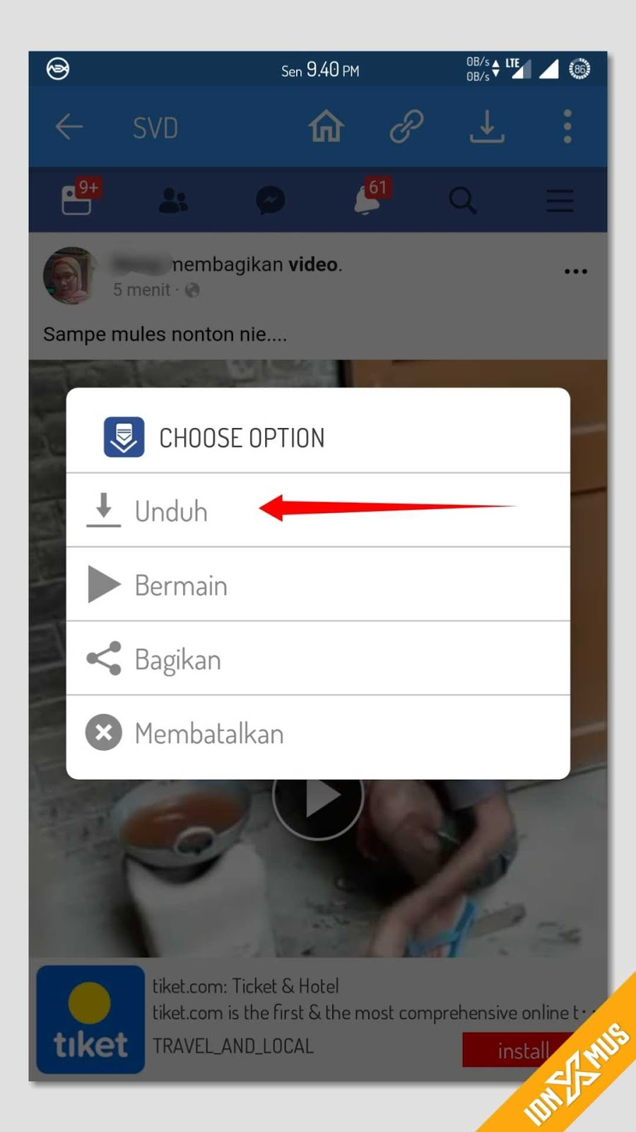 Download Video Menggunakan SVD