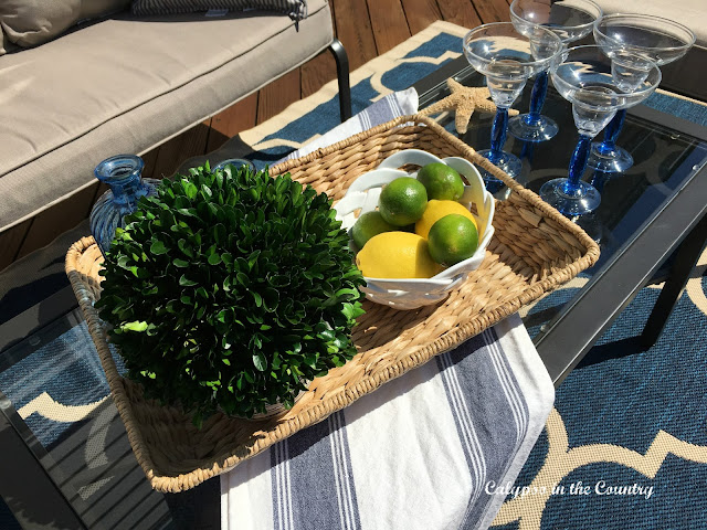 Outdoor tray for entertaining