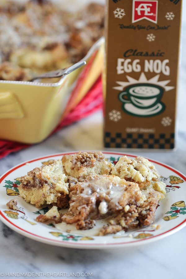 How to make ahead egg nog french toast casserole