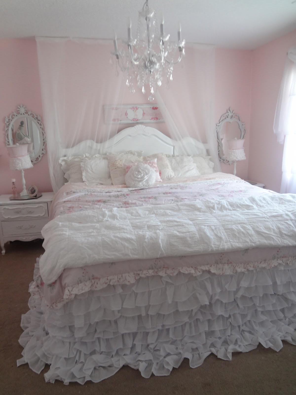 Not so shabby shabby chic my new ruffly bedding - What is shabby chic ...