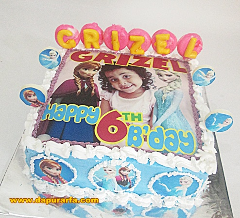 Birthday cake tema Frozen edibel foto