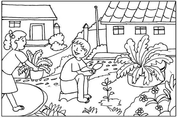 contoh gambar mewarnai lingkungan sekitar