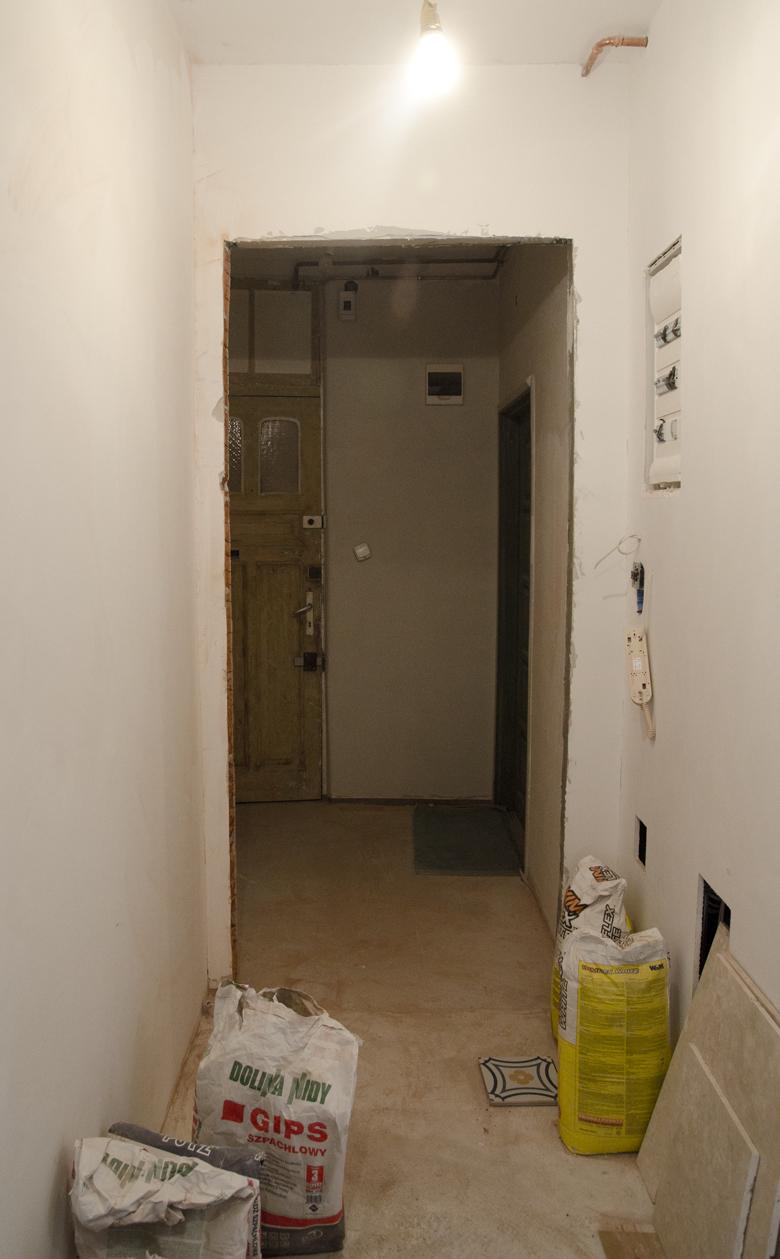 Remont mieszkania w kamienicy w Sopocie - przedpokój i strefa wejściowa