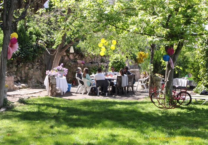 cumpleaños en el jardín