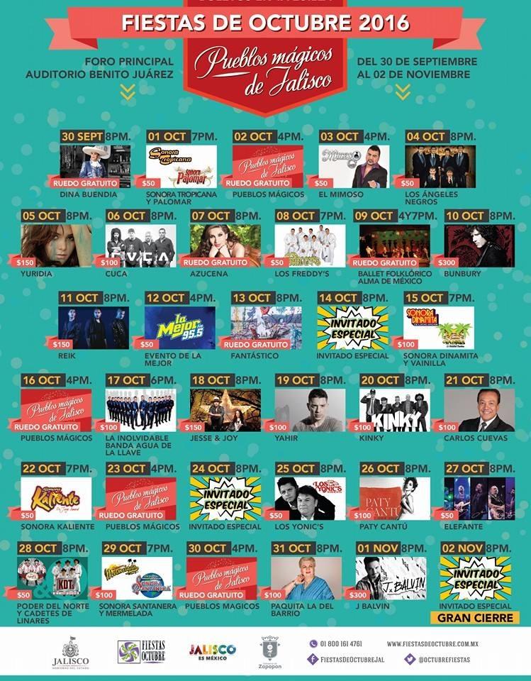 programa fiestas de octubre guadalajara 2016