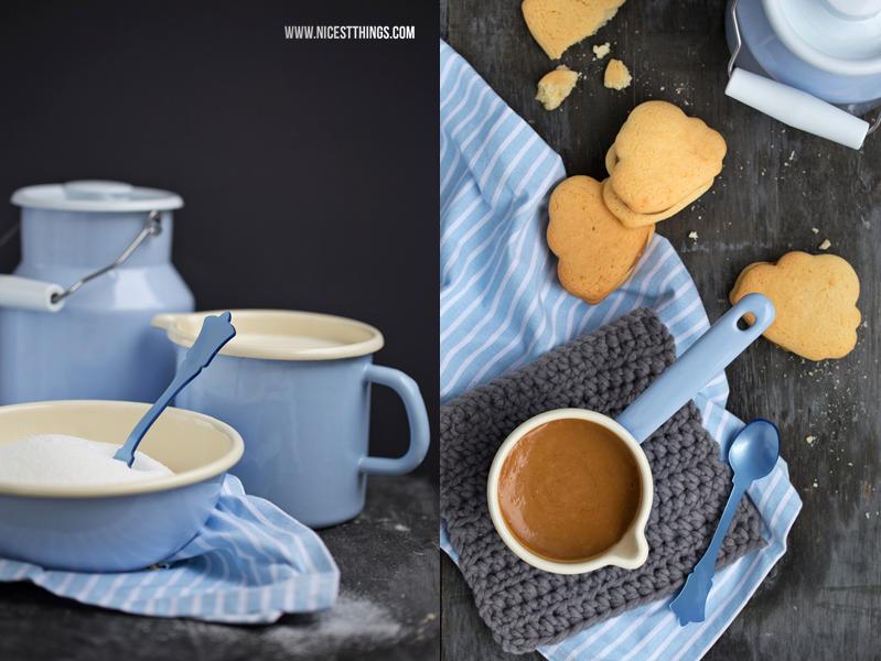 Riess Emaille Geschirr und Alfajores Kekse
