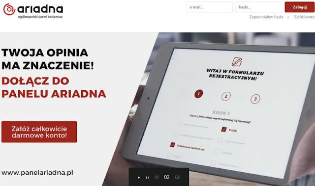 PanelAriadna to ogólnopolski panel badawczy, czyli strona internetowa zajmująca się przeprowadzaniem badań ankietowych przez internet