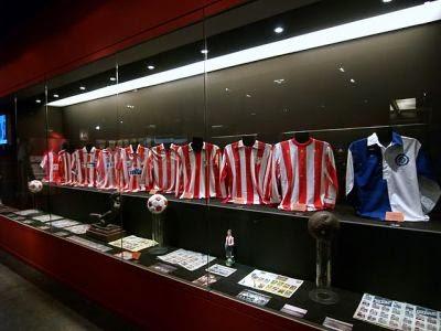 Museu do clube Atlético de Madrid em Madri na Espanha