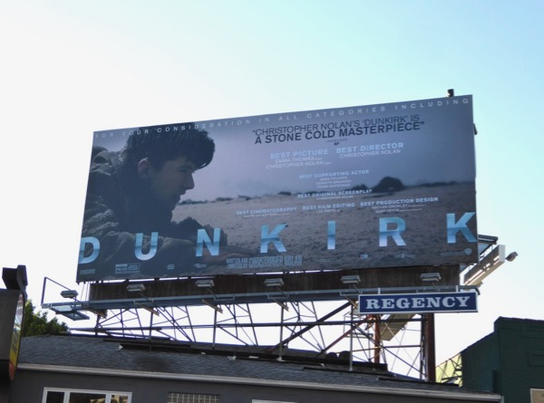 Dunkirk For your consideration billboard