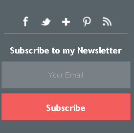 Email Subscription Widget 6