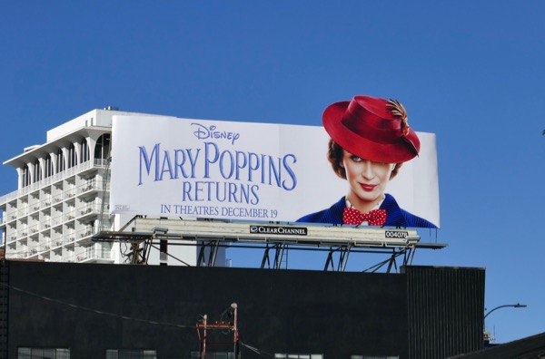 Mary Poppins Returns hat extension billboard