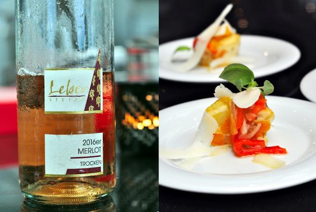 Tortilla mit Escabeche und Manchego mit Merlot Rosé des Weingutes Stefan Leber
