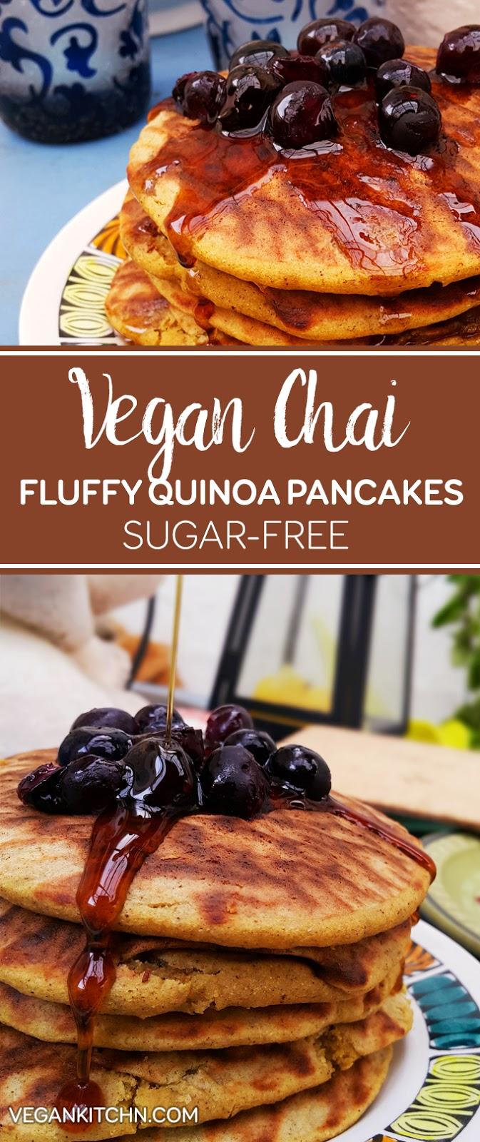 Gluten Free Vegan Quinoa Chai Pancakes Recipe