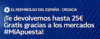 william hill promocion España vs Croacia 11 septiembre