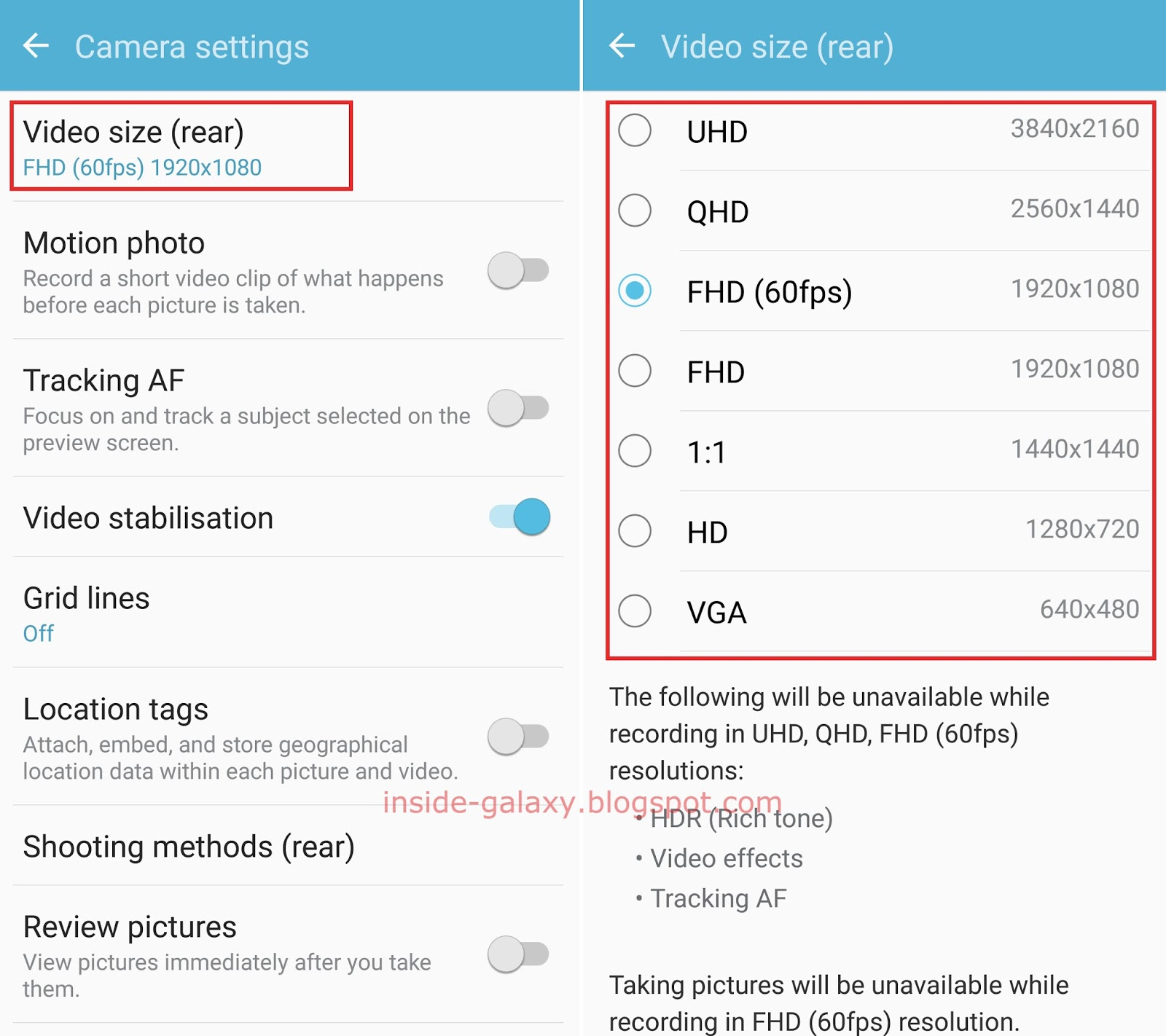 Samsung Galaxy S7 Edge: How to Change Video Size in Camera