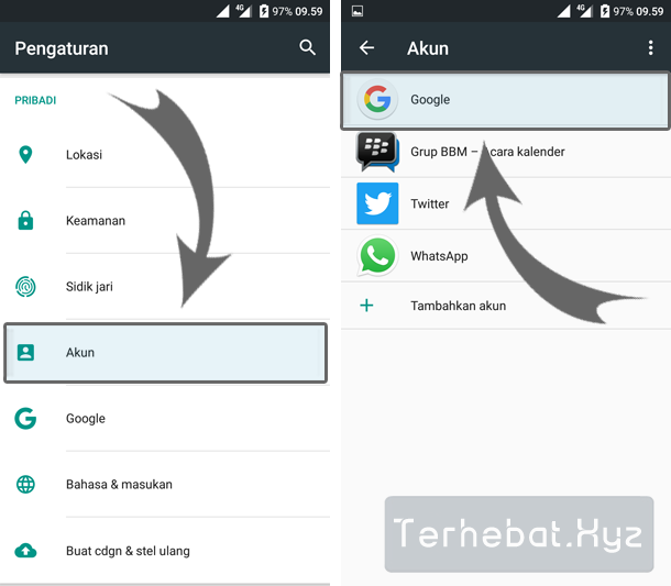 cara menghapus email playstore android