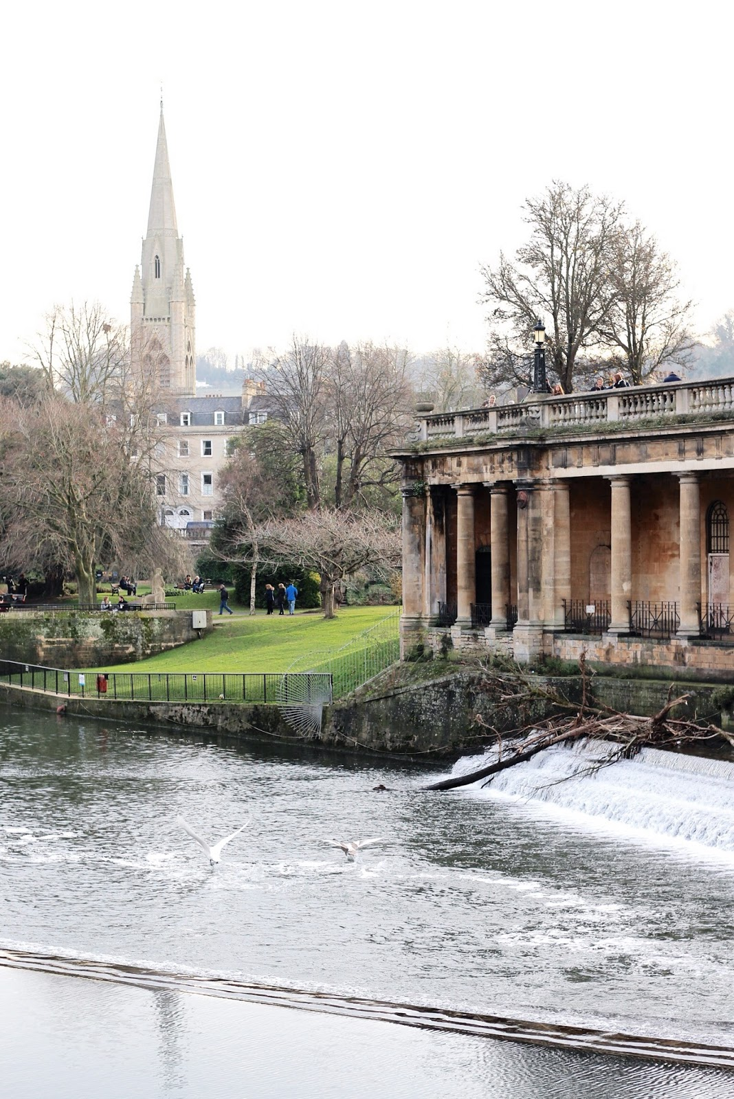 Famous historic English town of Bath