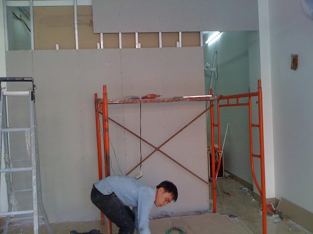Thợ làm tường thạch cao tại quận 8