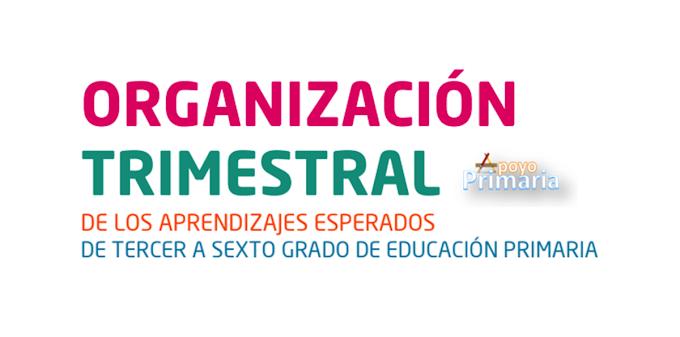 Organización trimestral de los aprendizajes esperados de tercero a sexto
