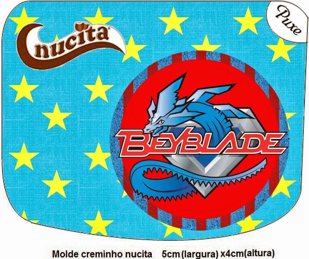 Etiqueta Nucita para Imprimir Gratis de Beyblade.