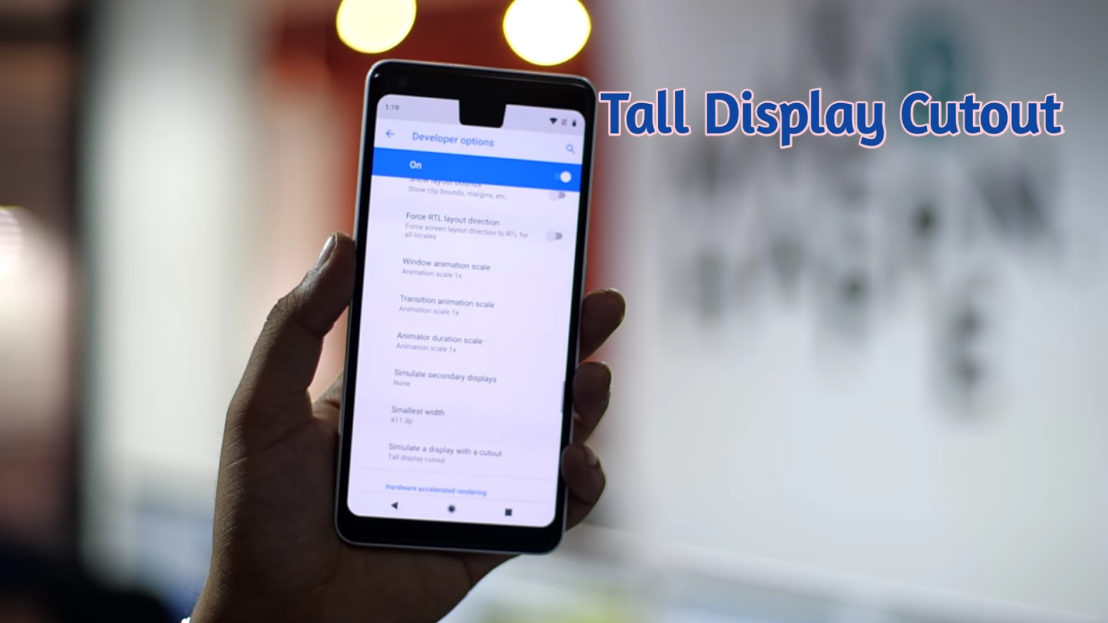The tall display cutout