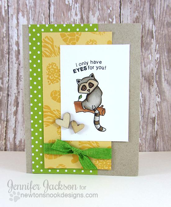 Lemur Valentine Card by Jennifer Jackson | Wild About Zoo Stamp set by Newton's Nook Designs