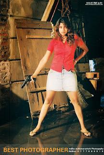 Nadeesha hemamali mini skirt gun