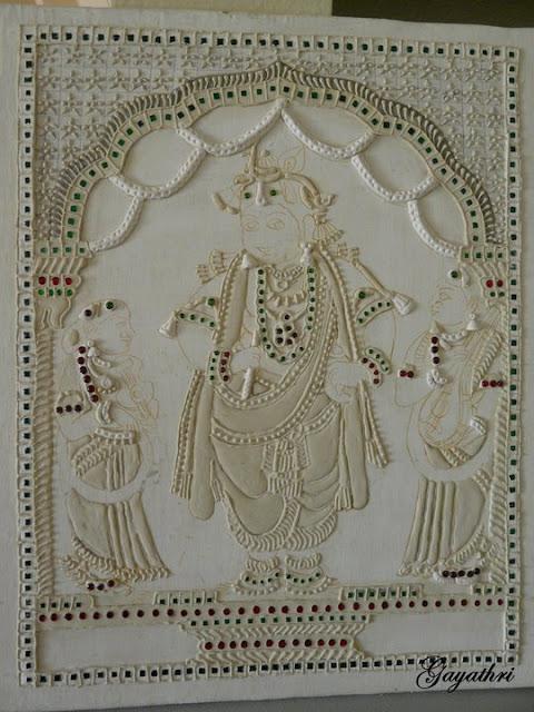Muck Board krishna Tanjore painting procedure