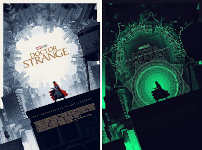Doctor Strange Movie Poster Glow in the Dark Screen Print by Matt Ferguson x Grey Matter Art x Marvel