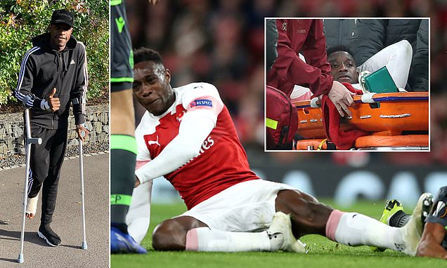 Danny Welbeck Thanks Fans For Their Love & Support As He Shares Photo On Crutches After Second Operation To Repair Badly Broken Ankle
