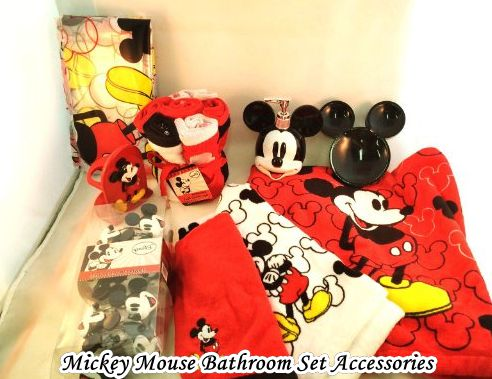 Mickey Mouse Bathroom Set Accessories