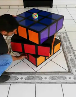 Mueble cubo de Rubik