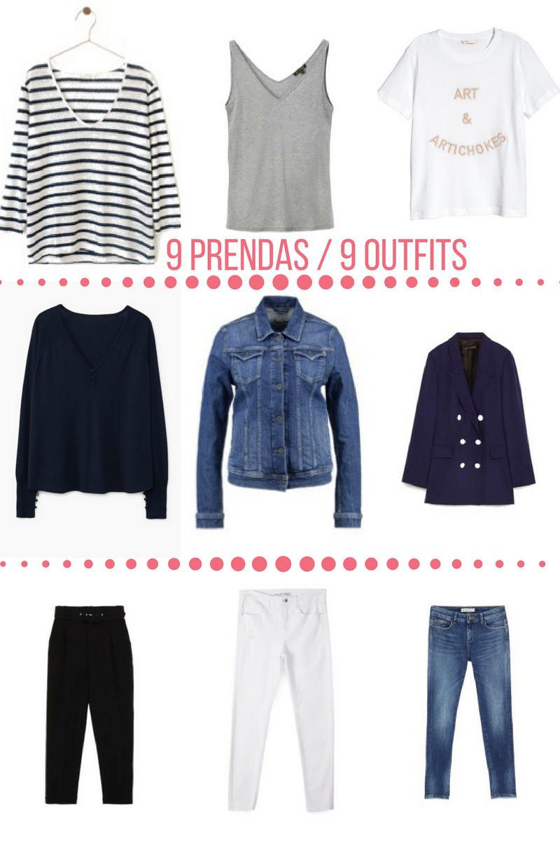 9 prendas de ropa para 9 outfits distintos