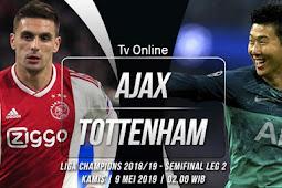 Live Streaming Liga Champions Ajax vs Tottenham Hotspur 9 Mei 2019