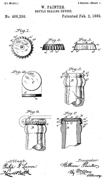 U.S. Patent 468258 A - Figures 1 through 7