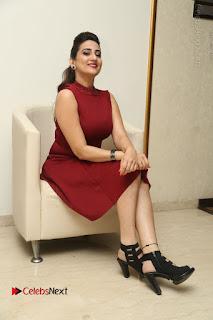 Telugu Tollywood Anchor Manjusha Pos in Red Short Dress  0135.JPG
