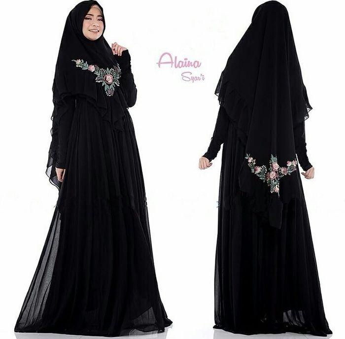 39 Model Gamis Sifon Desain Modern 2019 Terbaik Model Baju Muslim