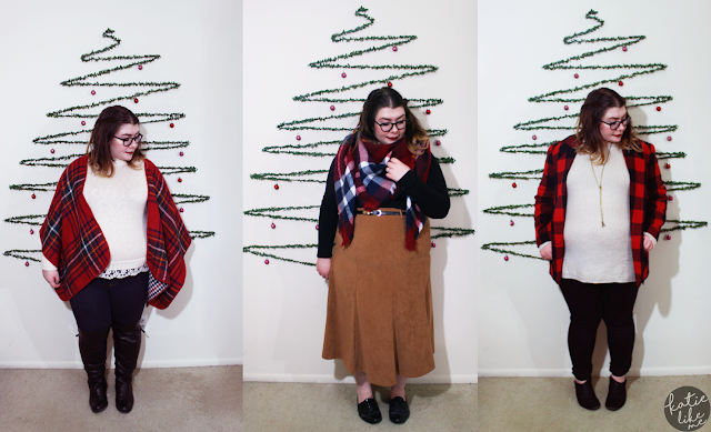 3 easy christmas outfits | www.katielikeme.com plaid fashion winter fashion christmas