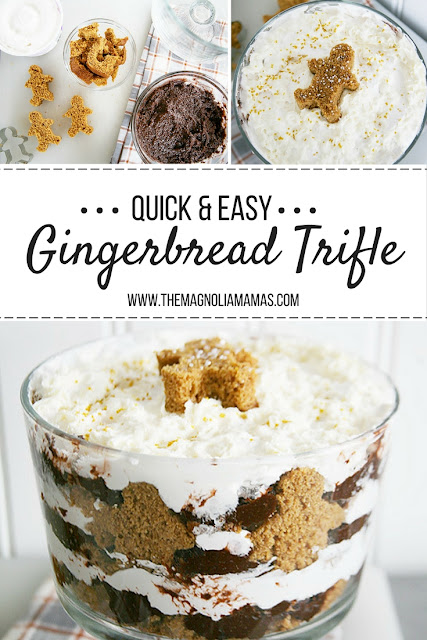 Quick and easy holiday dessert recipe. Gingerbread Trifle recipe that is easy to make, and is the perfect holiday dessert.