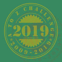 #AtoZChallenge 2019 badge